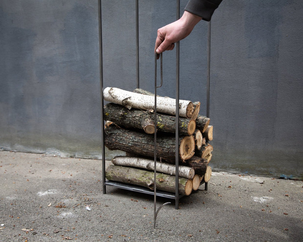Firewood rack / Log holder / Minimalistic Scandinavian design