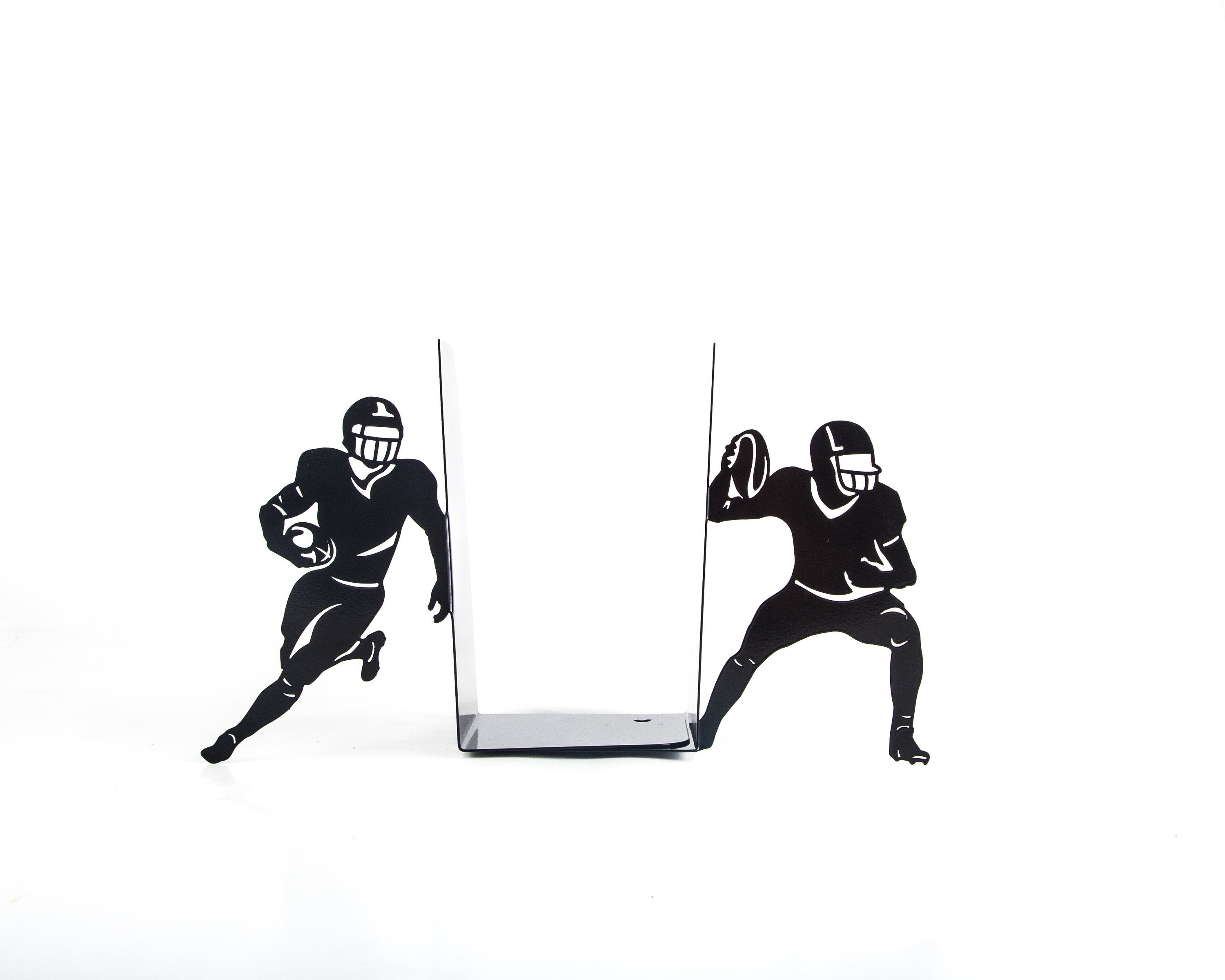Metal bookends - Football - sports inspired bookends // modern home functional decor // housewarming gift for an athlete // FREE SHIPPING // - Design Atelier Article