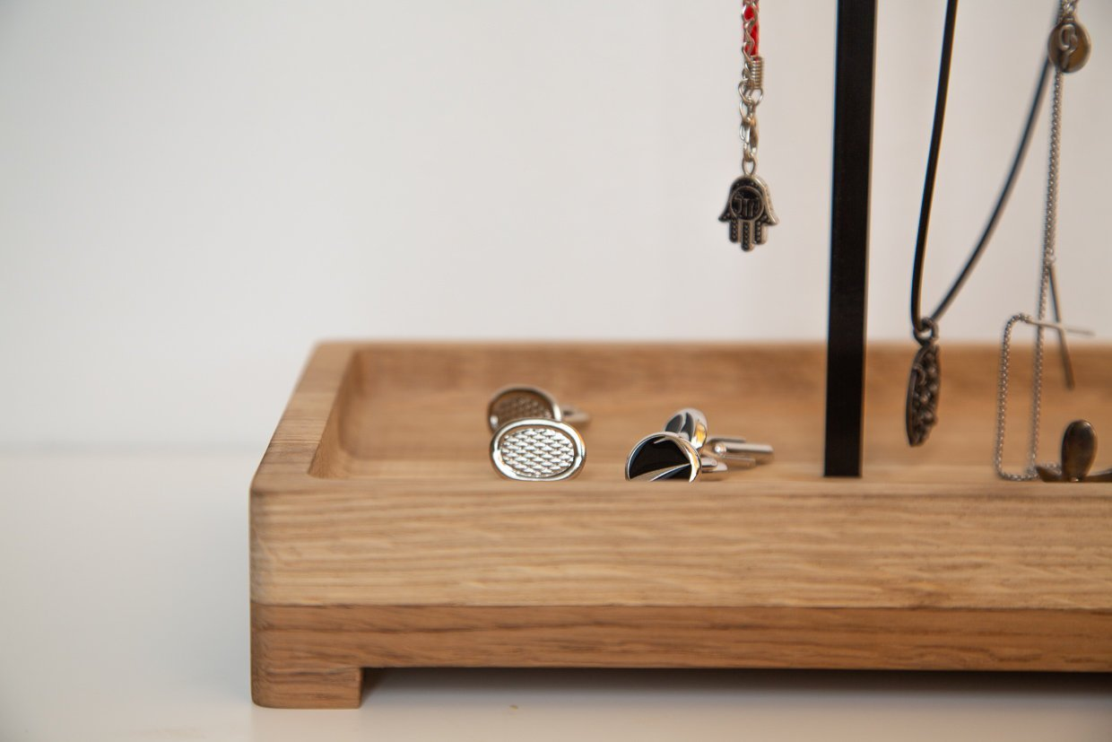 Jewelry Display with a box  // EYE OF PROVIDENCE // ring tree stand // organiser // storage // for earrings bracelets // Free shipping - Design Atelier Article