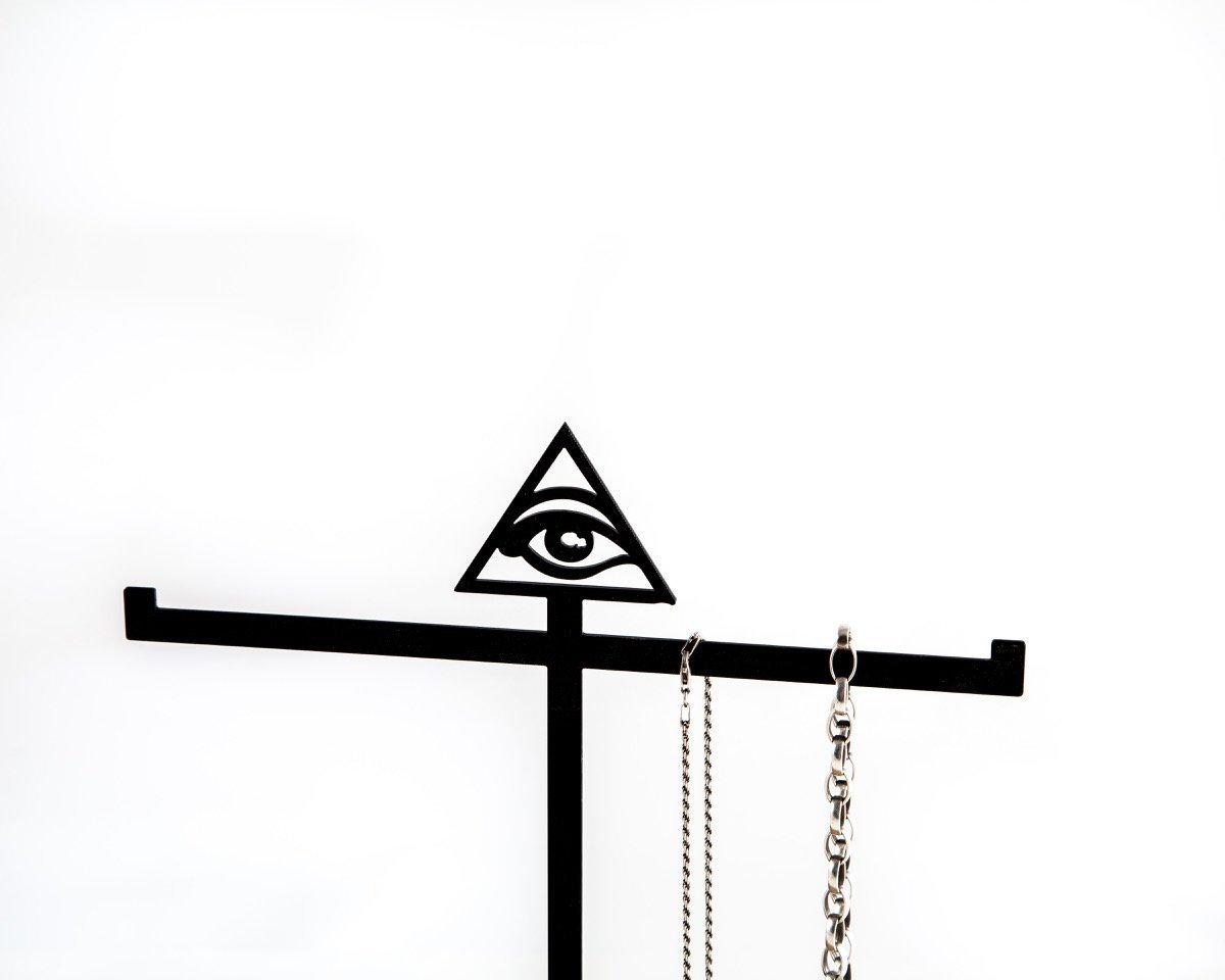 Jewelry Display with a box  // EYE OF PROVIDENCE // ring tree stand by Atelier Article - Design Atelier Article