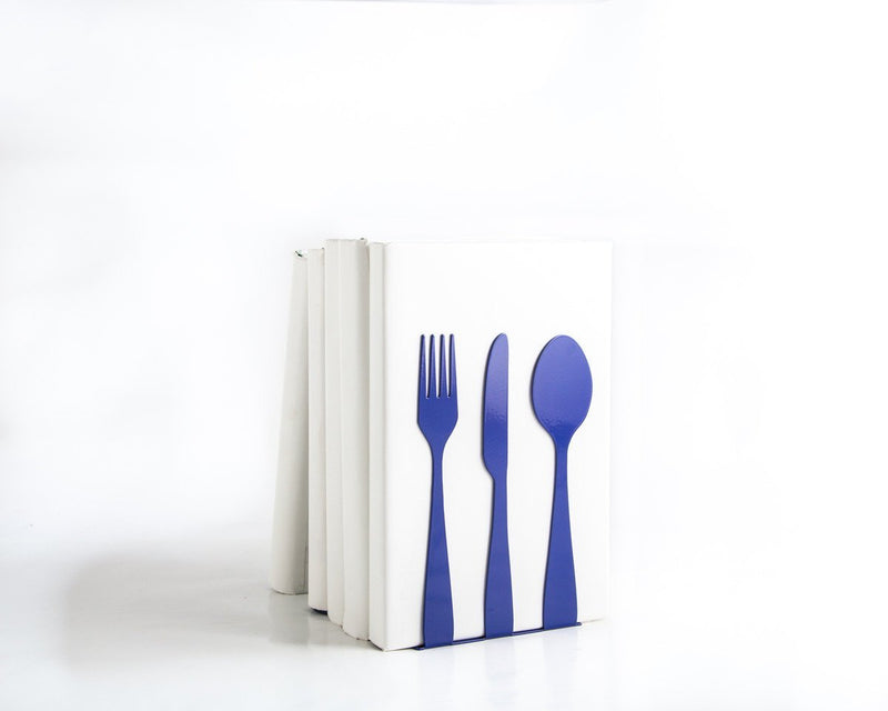 Kitchen decor // Metal Kitchen bookends // Silverware by Atelier Article - Design Atelier Article