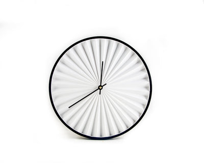 Wall Clock Harmonica White Modern, Geometric Style for a Minimalist Home