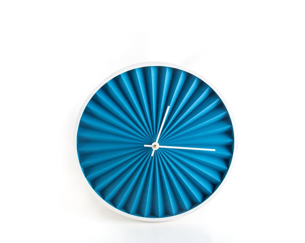 Unique handmade Wall Clock Harmonica Blue Edition by Atelier Article