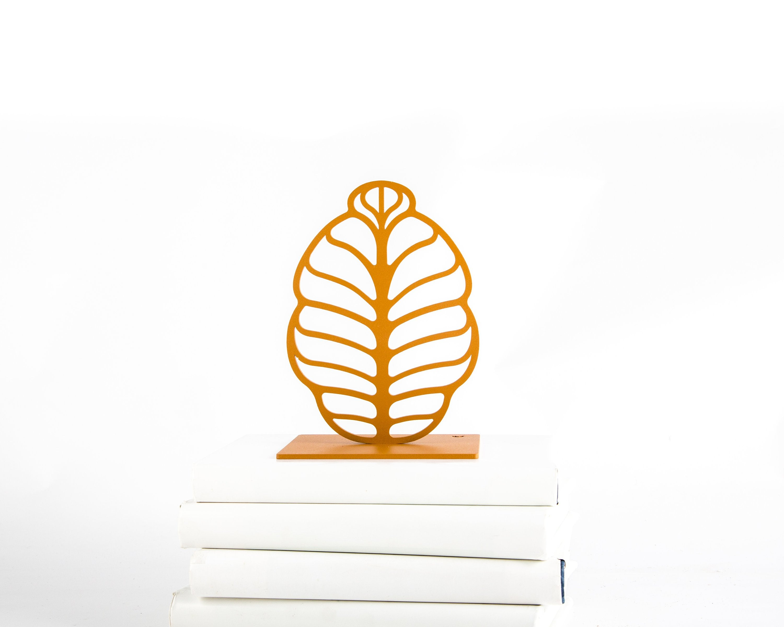 Metal Bookends - Rusty Leaves - FREE  SHIPPING - Design Atelier Article