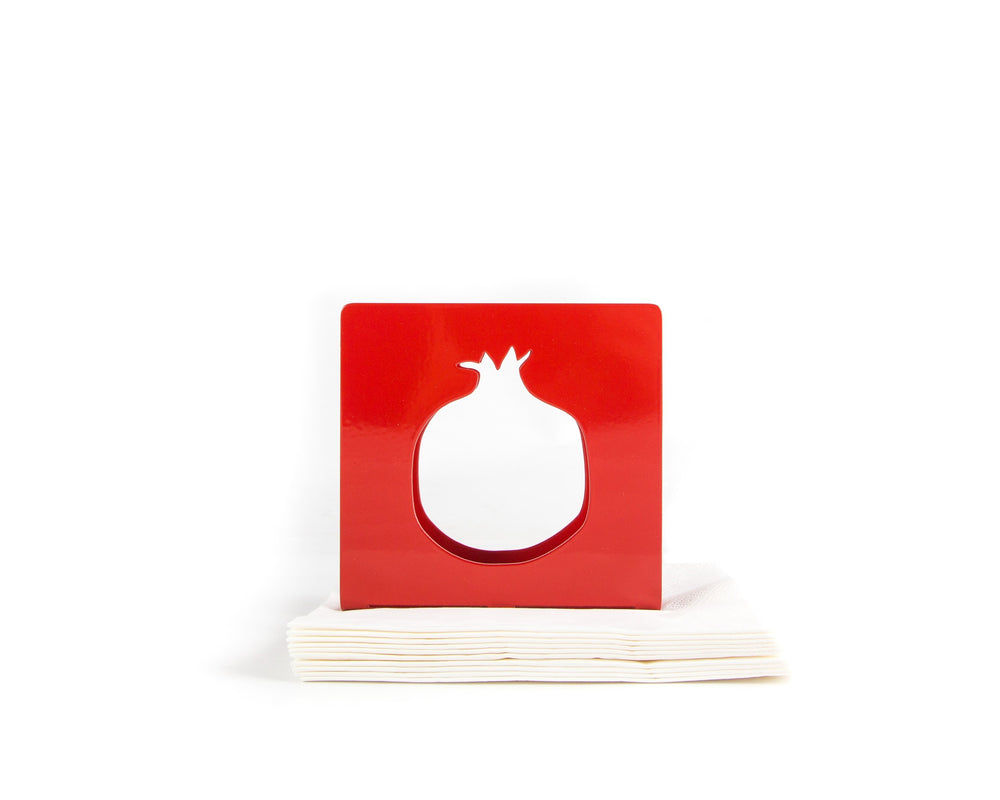 Unique napkin holder Pomegranate // red napkin dispenser // modern design kitchen accessory holder // FREE SHIPPING
