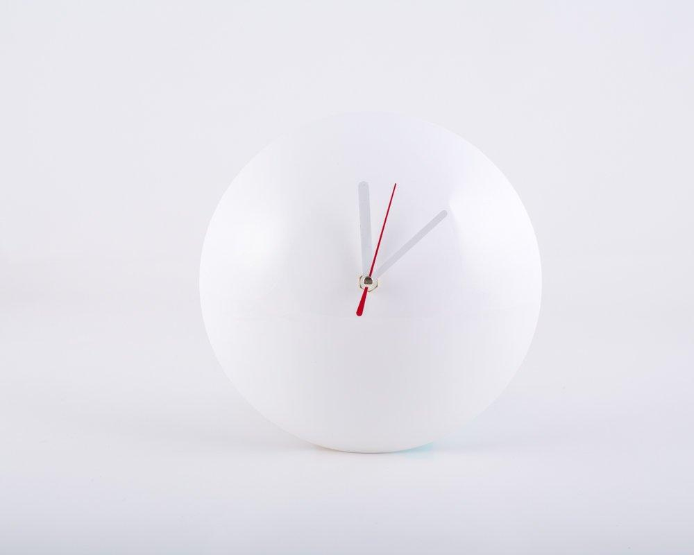Wall Clock Half a Sphere // Super Glossy Round shaped Wall Clock for a Minimalistic Home