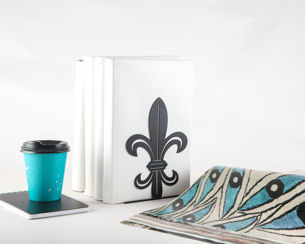 Metal bookend French Lily //  Modern Functional Shelf Decor by Article