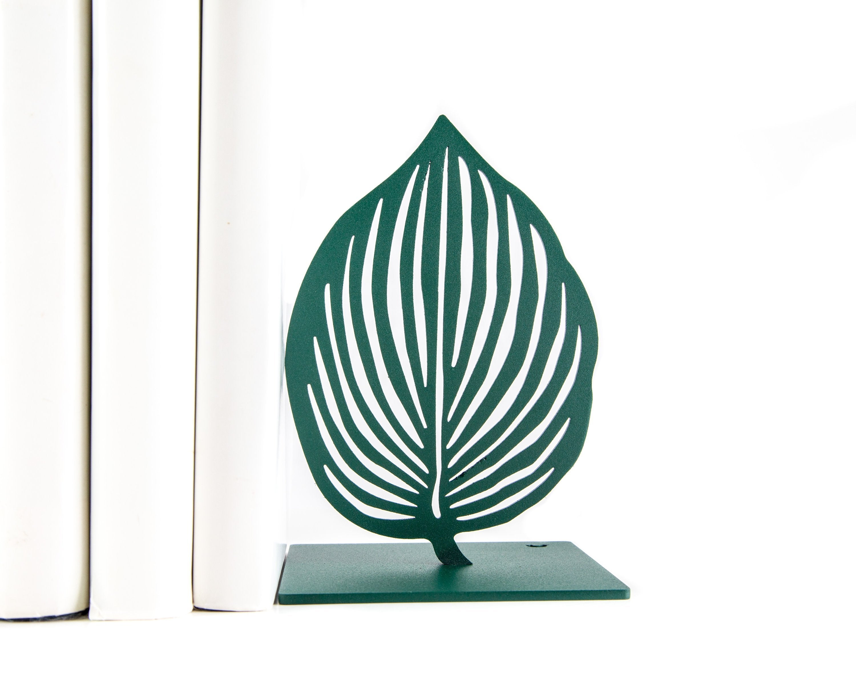 Metal Bookends Green Leaves by Atelier Article // FREE  SHIPPING - Design Atelier Article
