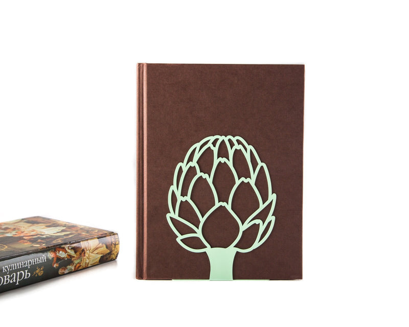 Metal Kitchen bookend // Artichoke // cookbook holder // FREE SHIPPING / housewarming gift