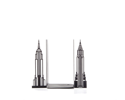 Metal bookends Towers of New York  // functional decor for modern home // FREE SHIPPING // housewarming present for a New Yorker book lover