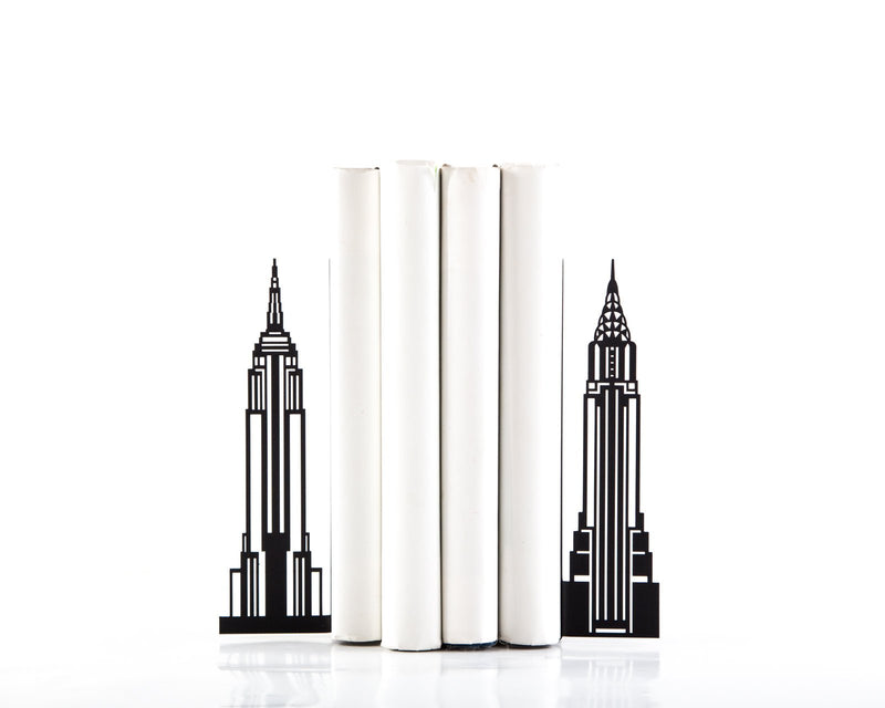 Metal bookends Towers of New York by Article