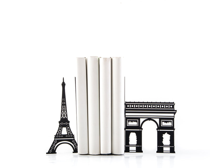 Decorative Metal Bookends - Symbols of Paris - by Article