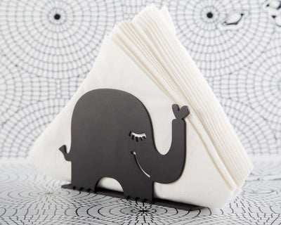 Unique napkin holder Black Elephant // Scandi style modern design by Article