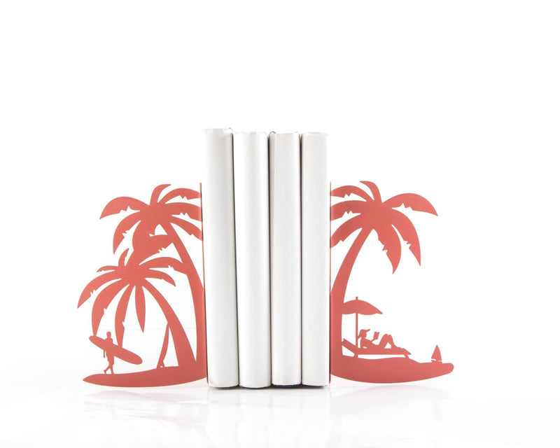 Metal Bookends - On the Beach - vacation shelf decor by Article