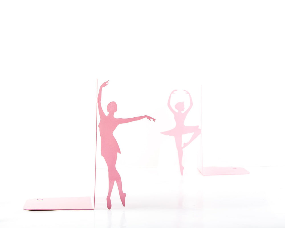 Metal Bookends Ballerinas // Passé simple // Ballet Nursery theme // Pink edition / Gift for a ballet dancer // Free Shipping Worldwide