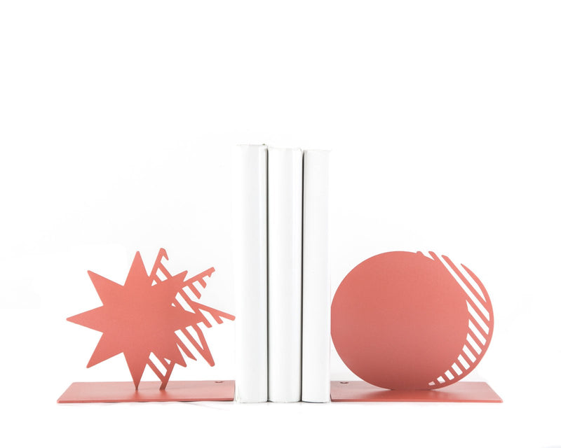 Metal Bookends Coral Star and Moon by Article