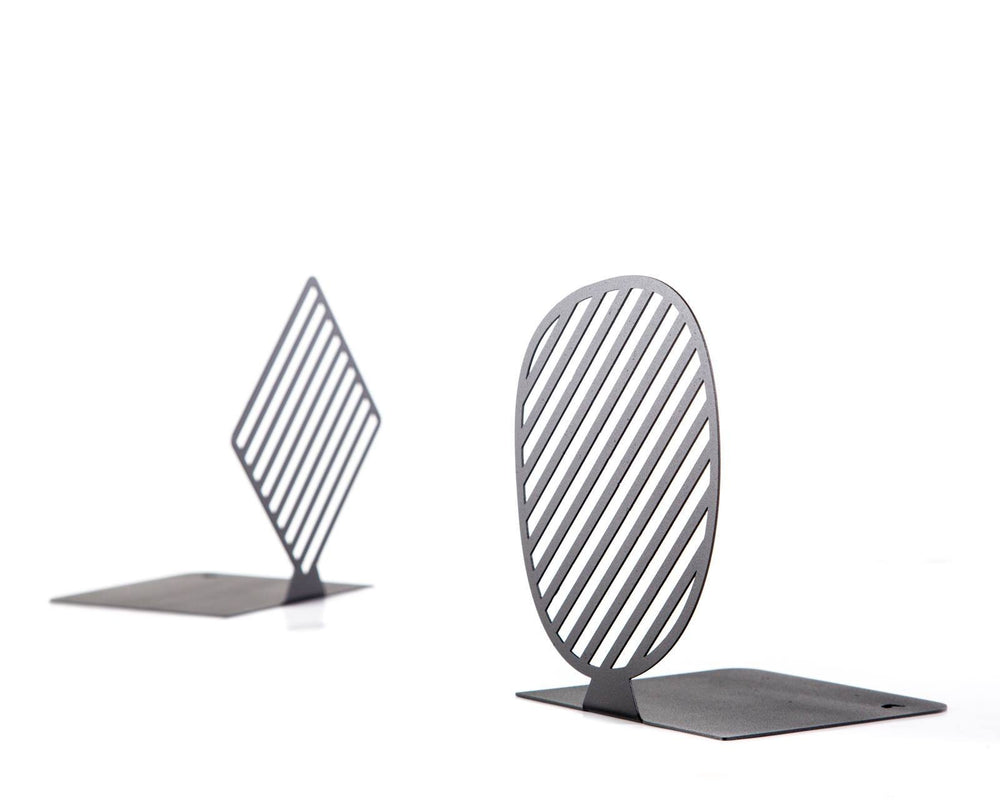 Trendy metal bookends Stipes Limited by Article