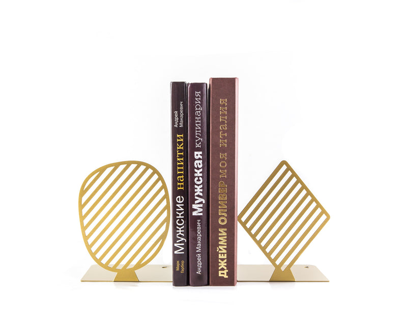 Modern beautiful bookends // Stripes Golden edition by Article