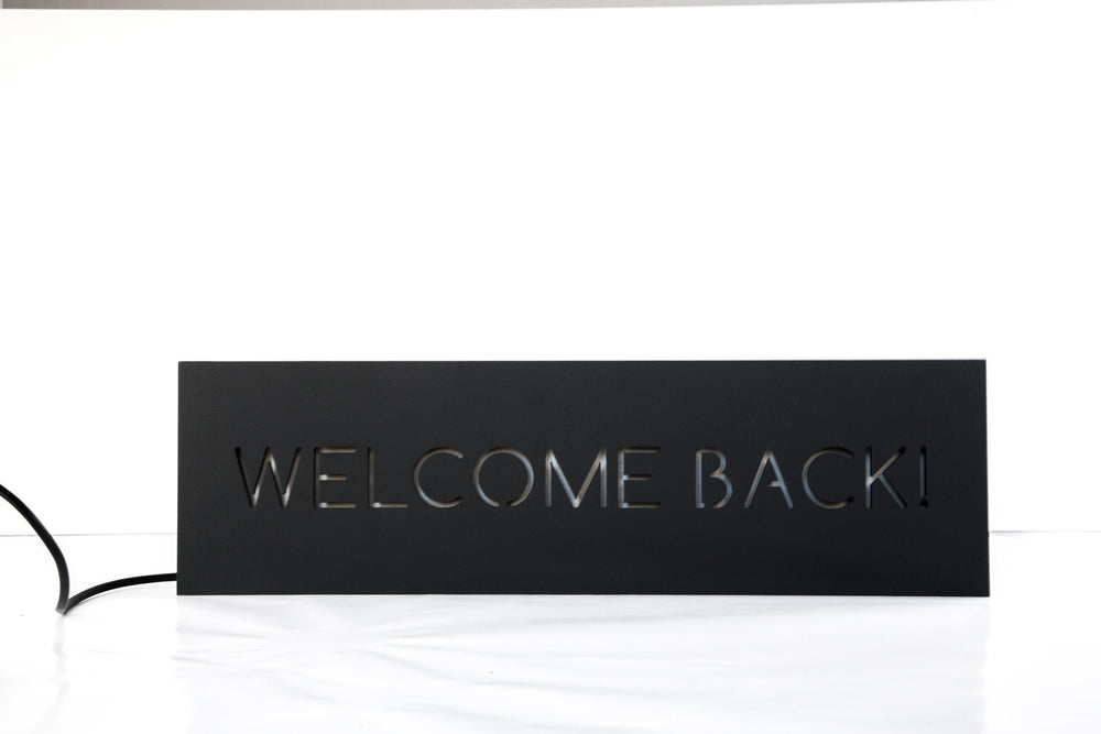 Party decoration // Wall Light Neon Sign style Welcome back // Man cave // Wall Art // Universal current adapter // Free shipping