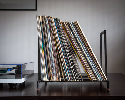 LP storage // Display // Daily portion // Listen now stack // Album stand // On copper pads // Free shipping