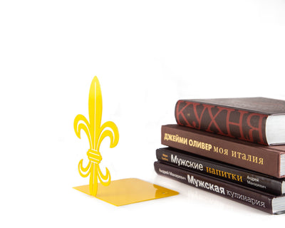 A metal bookend French Lily //  Modern Functional Shelf Decor // FREE SHIPPING