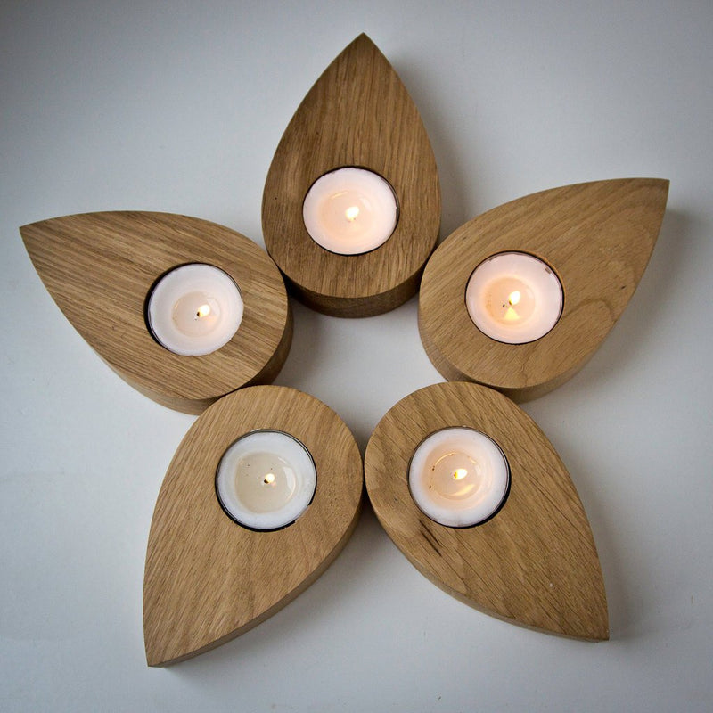 Nordic Candle holder Droplets of a flower salvaged ash tree droplets by Article