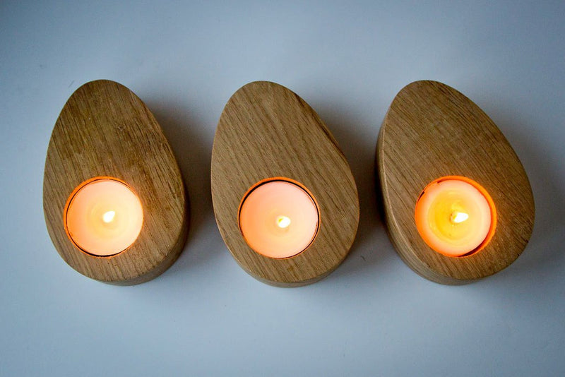 Nordic Candle holders Three Droplets of Wood by Atelier Article - Design Atelier Article