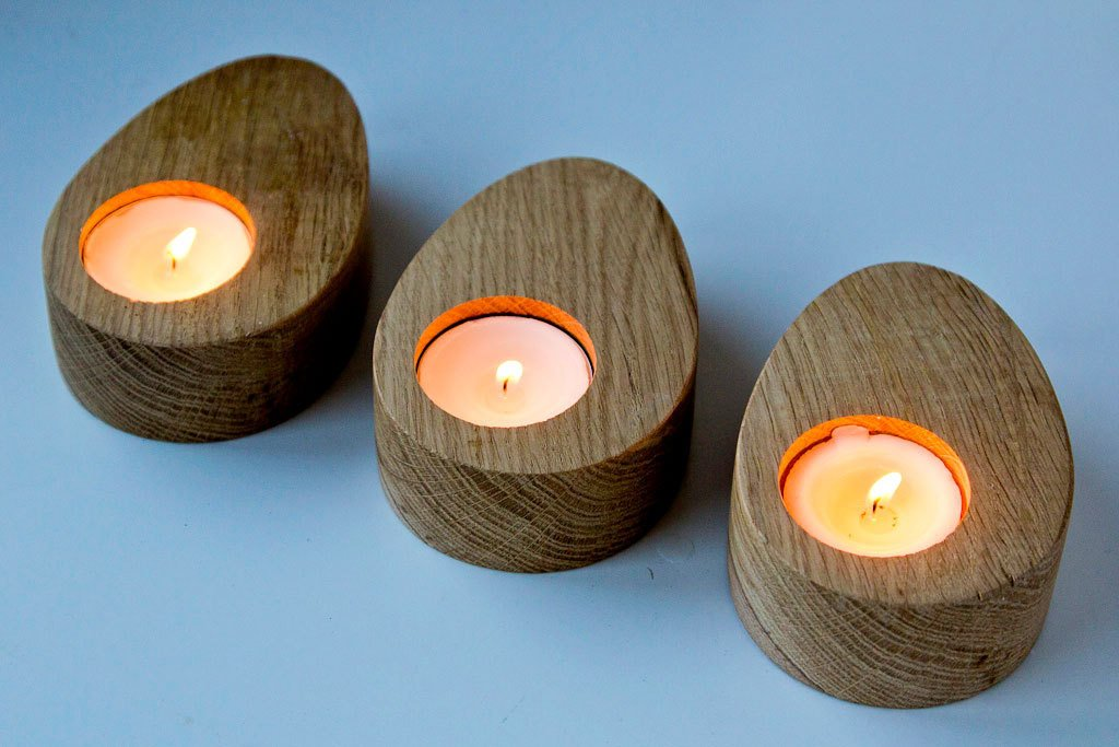 Candle holders // A set of Three - Droplets of wood -  Modern Home Decor // Housewarming gift // Christmas gift // FREE SHIPPING - Design Atelier Article