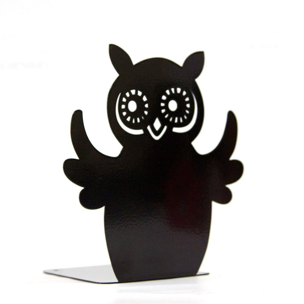 Salе 30% OFF A Decorative metal Bookend -Owl reader- unique artistic book holder for modern home // shelf decor // FREE SHIPPING
