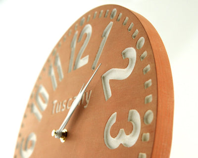 Large wooden handmade wall clock Tuscany by Atelier Article - Design Atelier Article