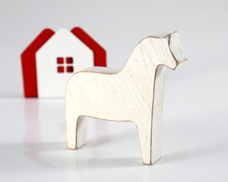 Scandinavian Dala horse wooden toy decor for Christmas by Article