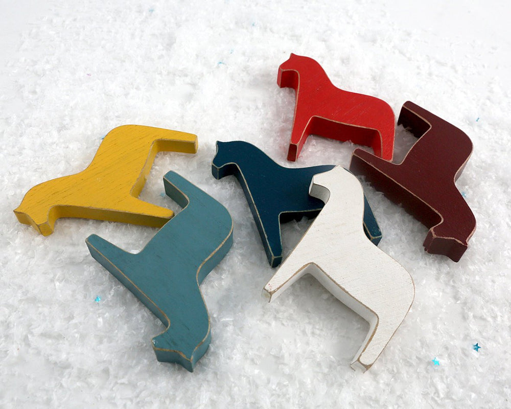 Christmas decor Scandinavian Dala Horse Wooden Toys by Atelier Article - Design Atelier Article
