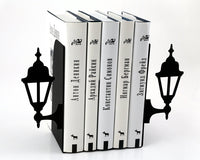Metal Bookends  Old Lamp Posts // book holders for your bookshelf // FREE SHIPPING - Design Atelier Article
