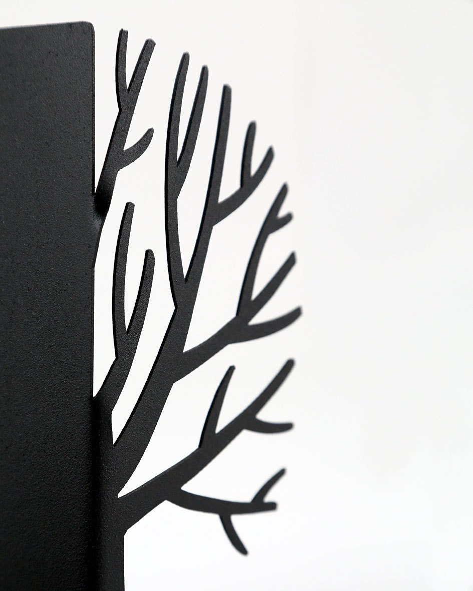 Metal bookends _Winter trees_ // functional decor for modern home // FREE SHIPPING // Scandinavia inspired book holders // housewarming gift - Design Atelier Article