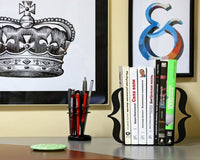 Unique Metal Bookends - Brackets Black - Curly Braces // metal book holders for modern home // housewarming gift // FREE  SHIPPING