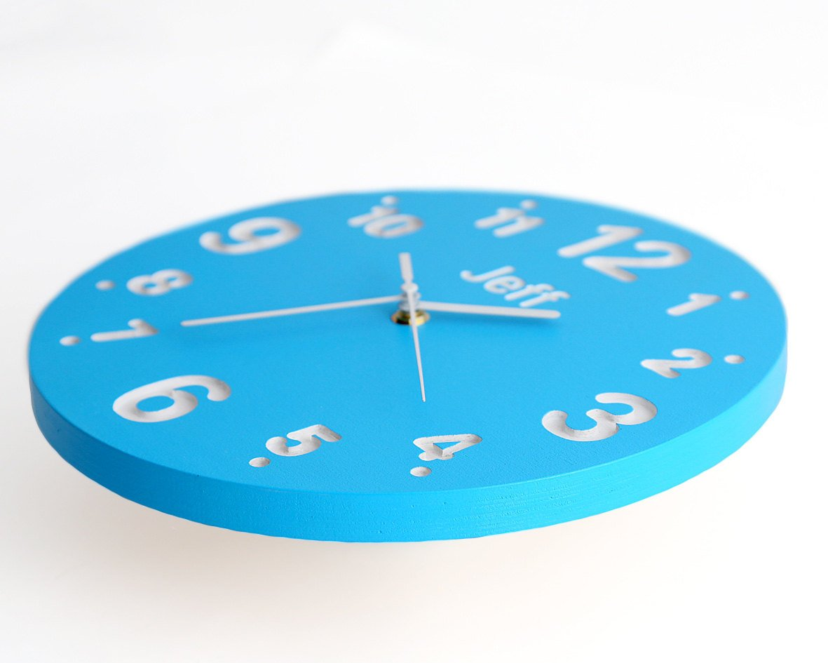 Childrens Room Nursery Wall Clock For Kids Room With Your Choice Of