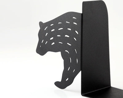 Metal Bookends - Bear- // unique book holders for modern home // woodland theme // artistic nursery decor // FREE SHIPPING // hunters lodge - Design Atelier Article