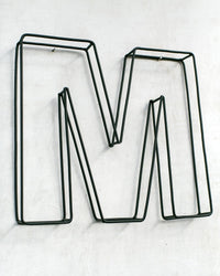 Metal HOME Wall Decor Made from Welded Wire // Indoor or Outdoor Wall Hanging in the Metal Letter Shapes // Custom Letters Available - Design Atelier Article