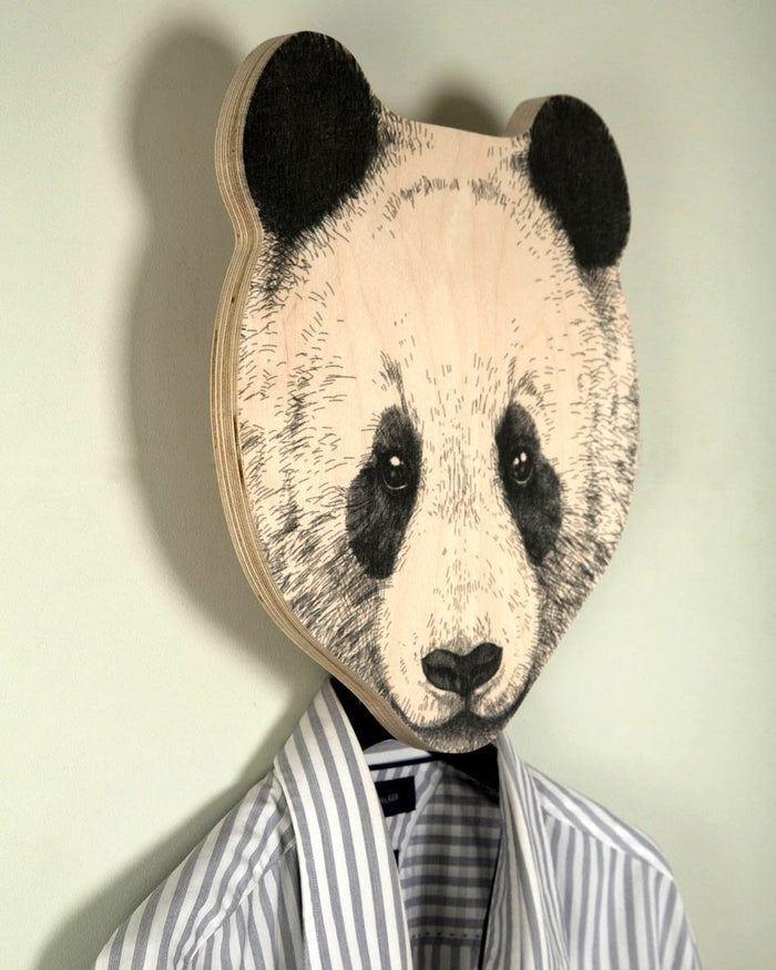 Unique hook - hanger - mask - Panda - a decorative article for your creative home or office