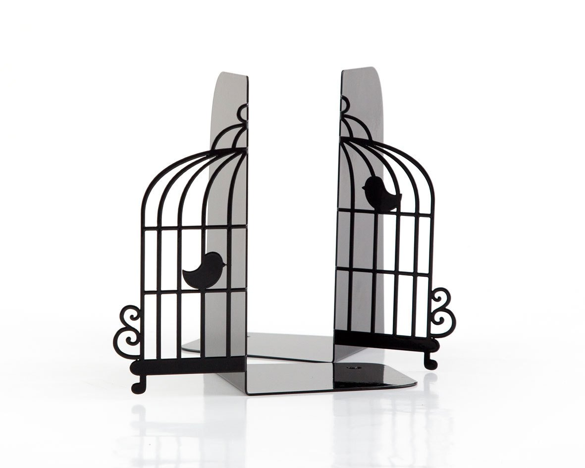 Metal Bookends  -Birdcage- Unique book holders // christmas gift // FREE SHIPPING - Design Atelier Article