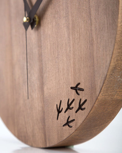 Wooden Handmade unique clock The bird has left the clock by Article