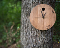 "Large wooden wallclock ""The bird has left the clock"" by Atelier Article - Design Atelier Article"