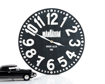 Wall Clock - Manhattan- inspired by Woody Allen's movie