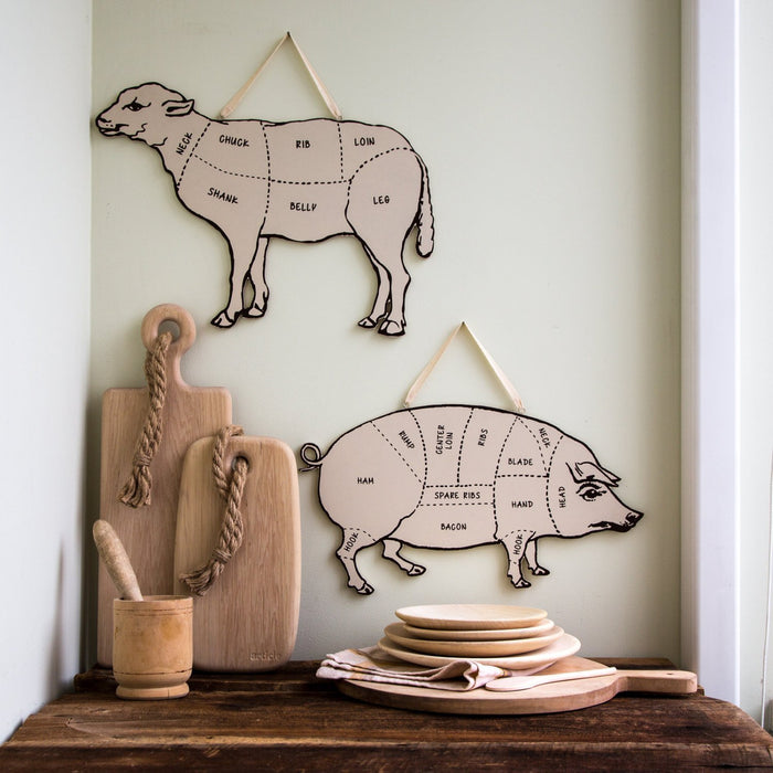Decorative Lamb for your kitchen Meat cutting chart - Design Atelier Article