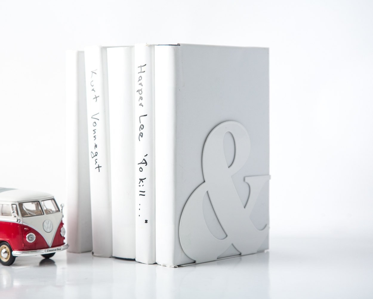 A pair of metal Bookends // Ampersnad // Stylish book holders for modern home // FREE SHIPPING