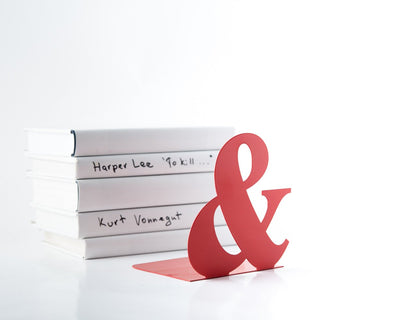 Metal Bookends // Ampersand // FREE SHIPPING - Design Atelier Article
