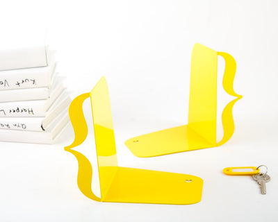 Unique design bookends - Brackets (curly braces) // artistic decorative // modern home office decor /// FREE WORLDWIDE SHIPPING