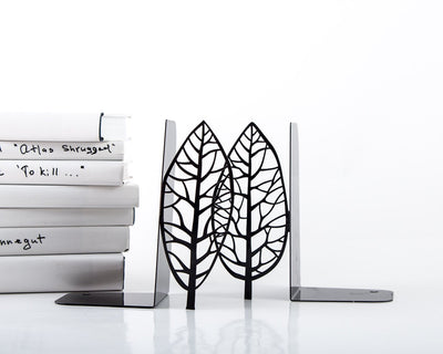 Metal bookends - Magritte trees - painter inspired bookends // modern home functional decor // housewarming gift // FREE SHIPPING // - Design Atelier Article