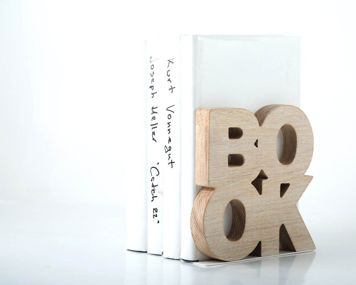 One bookend Book Wooden edition // housewarming gift for modern home // wooden book holder christmas gift book lover // FREE SHIPPING - Design Atelier Article