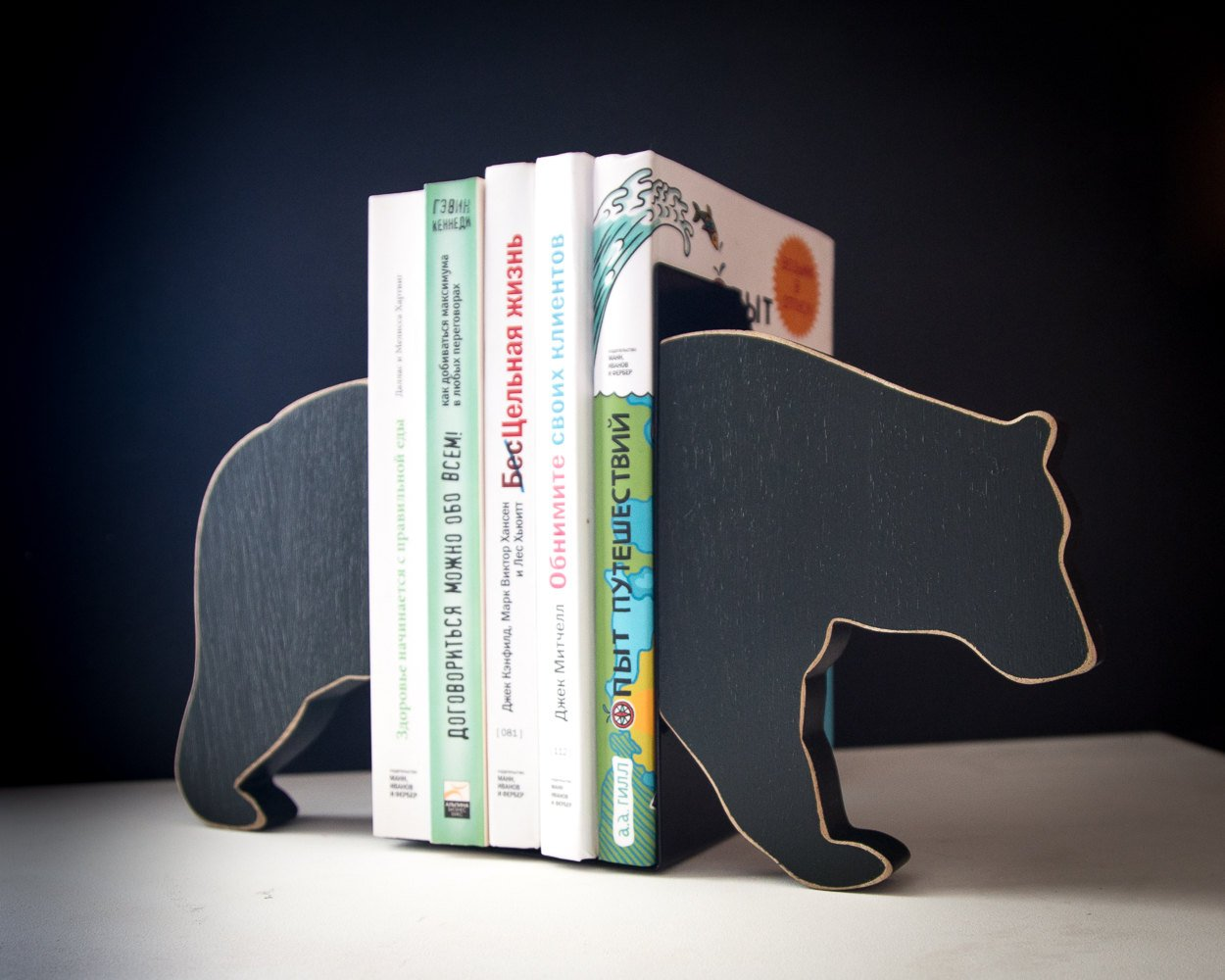 Bookends - Bear- FREE SHIPPING special wooden edition of our popular bookends will hold your favorite books - Design Atelier Article